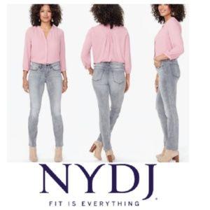 NYDJ Sheri Slim HR skinny jeans in Tahoma grey 4